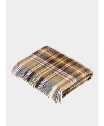 Glencoe Wool Throw - Mustard