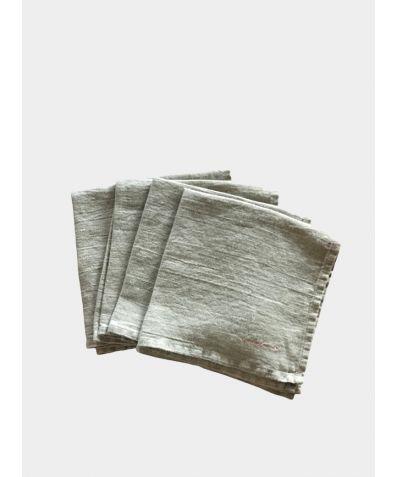 Linen Square Napkin (Set of 4) - Natural