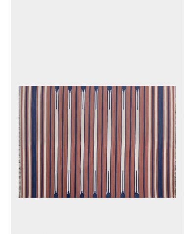 Cotton Handwoven Rug - Native Terracotta