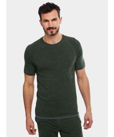 Mens Nattwarm® Sleep Tech T-Shirt - Pine Green