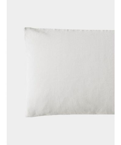 French Linen Oxford Pillowcase - Toulon Dove Grey