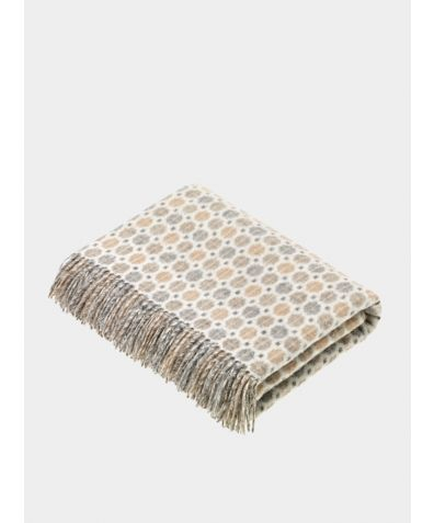 Milan Lambs Wool Throw - Natural