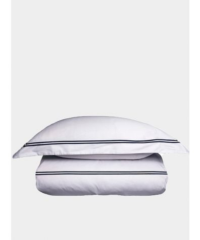 300 Thread Count Cotton Sateen Flat Sheet - Navy