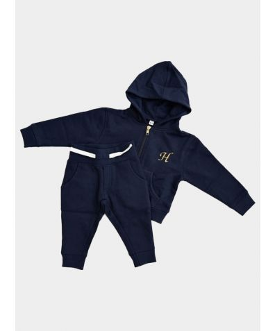Hooded Jogger Set - Navy