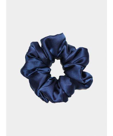 Luxe Pure Silk Hair Scrunchie - Navy