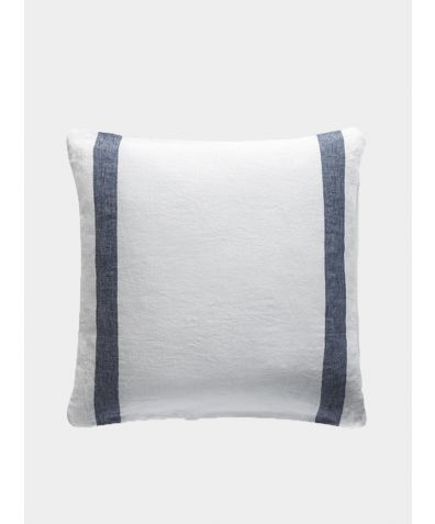 Linen Cushion Cover Arles Collection - Navy Stripe
