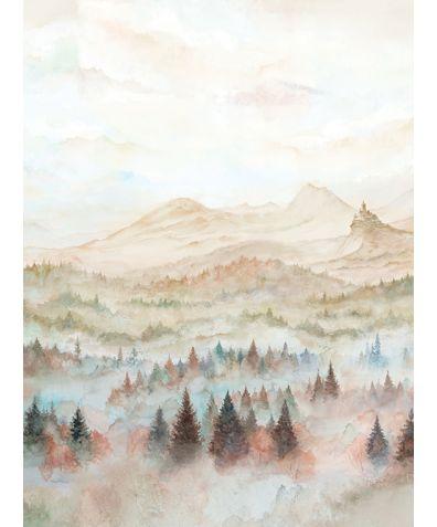 Foggy Hills Mural Wallpaper