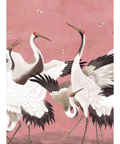 Flock of Cranes Mural Wallpaper