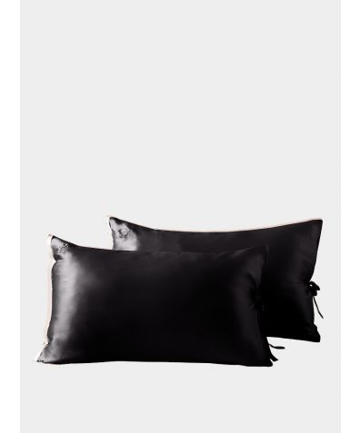 Classic Silk Pillowcase - Black