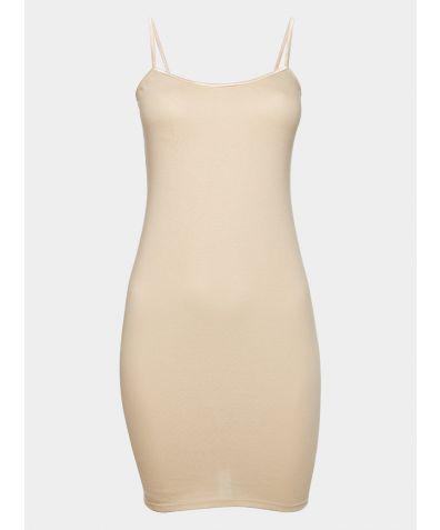 Cotton Lounge Dress - Nude
