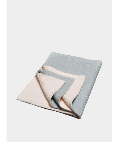 Voile Kantha Bedspread - Plummet & Nude