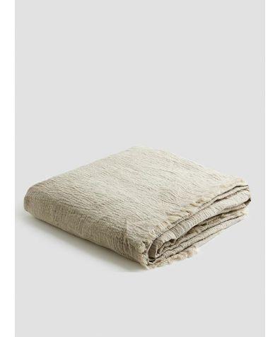 Linen Crinkle Throw - Oatmeal