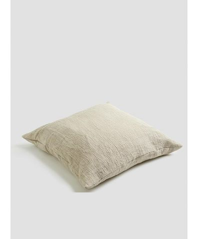 Linen Crinkle Cushion - Oatmeal