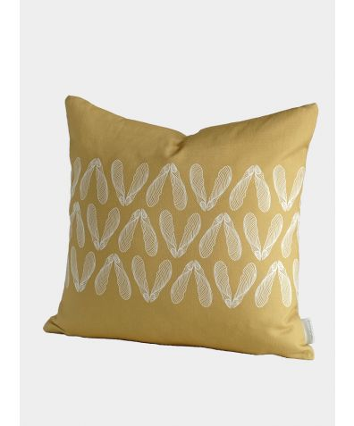 Sycamore Seed Cushion, Ochre