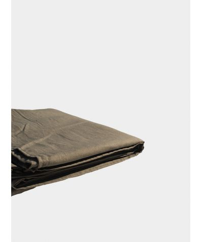 Linen & Bamboo Flat Sheet - Olive Grey