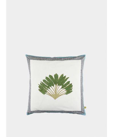 Nicobar Palm Cushion Cover - Single Palm