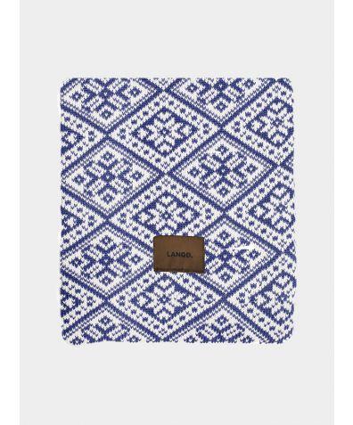 Wool Blanket - Blue White
