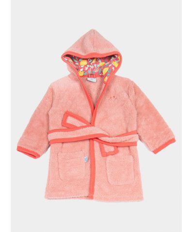 Girls Fleece Dressing Gown - Lemon Grove Pink