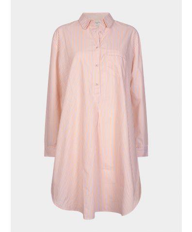 Dream-On Cotton Nightshirt - Gold & White Stripe