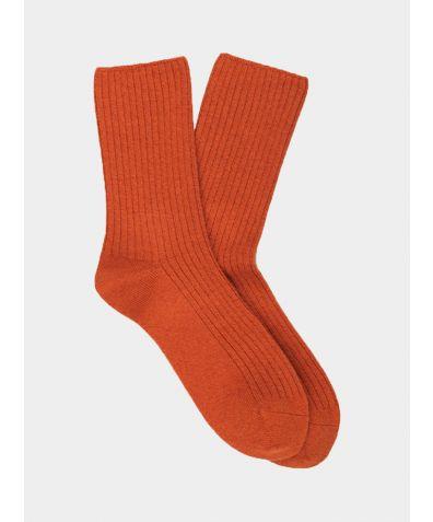 Women's Cashmere Socks - Orange