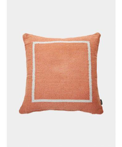 Jama-Khan Hand Woven Cotton Square Cushion - Terracotta