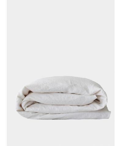 Organic Linen Duvet Cover - White