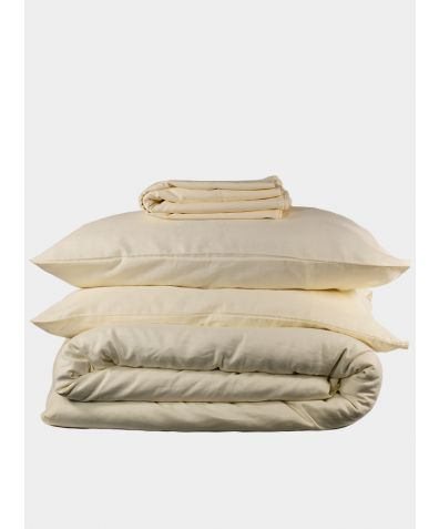 Linen & Bamboo Bedding Set - Oyster White