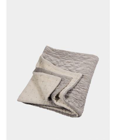 Velvet Linen Bedspread -  Oyster