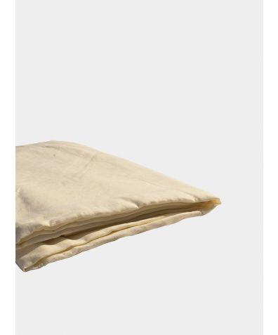 Linen & Bamboo Flat Sheet - Oyster White