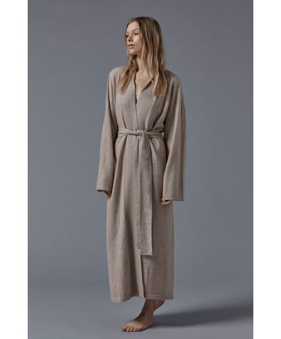 Legere Cashmere Dressing Gown - Beige