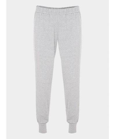 Granddad Pyjama Trousers - Grey Stripe