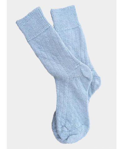 Alpaca Bed Socks - Palest Blue