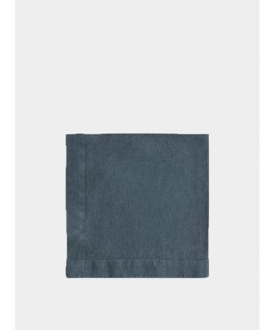Linen Napkin Mitered Hem Collection - Parisian Blue
