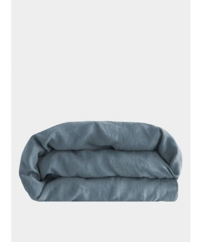 Linen Duvet Cover - Parisian Blue