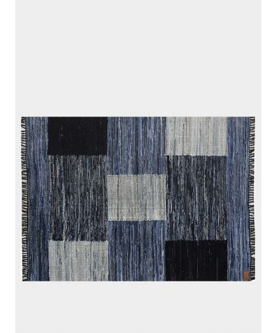 Upcycled Handwoven Rug - Denim Patchwork