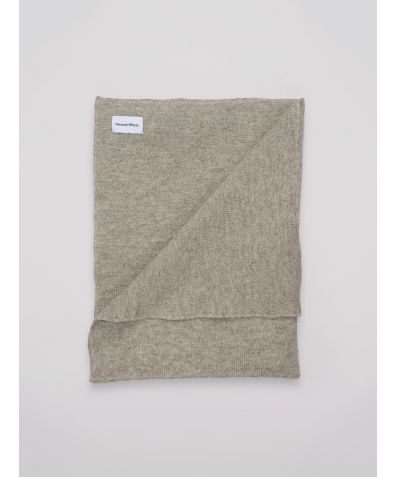 Natural Undyed Shetland Sheep Wool Blanket - Light Grey
