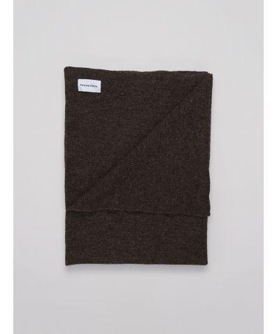 Natural Undyed Shetland Sheep Wool Blanket - Dark Grey