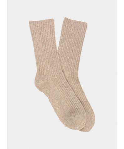 Women's Cashmere Socks - Pearl