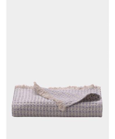 Nida Linen Throw -  Pebble Grey