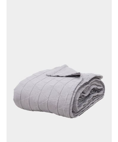 Stockholm Cotton Bedspread - Pewter Grey