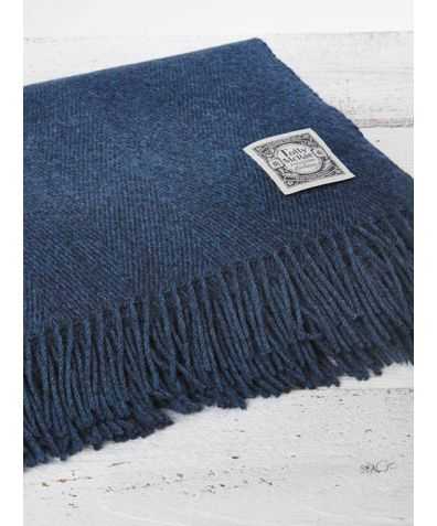 Wool Throw - Pure Blue