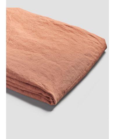 Linen Duvet Cover - Burnt Orange