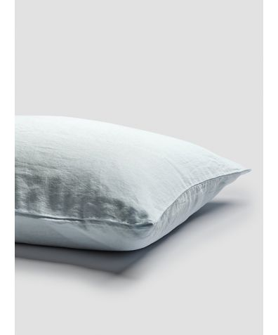 Linen Pillowcases (Pair) - Lake Blue