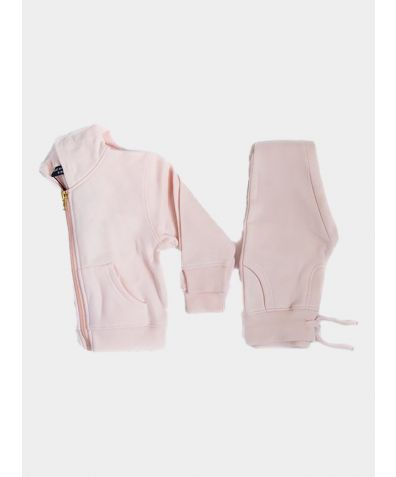 Hooded Jogger Set - Pink