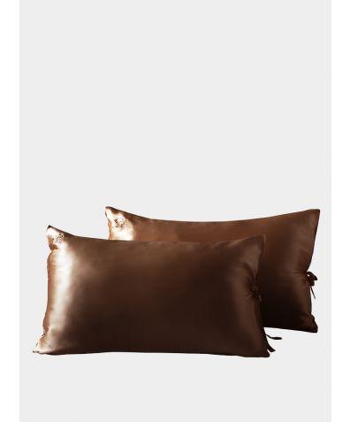 Classic Silk Pillowcase - Chocolate Brown