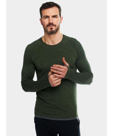 Mens Nattwarm® Sleep Tech Long Sleeve Top - Pine Green