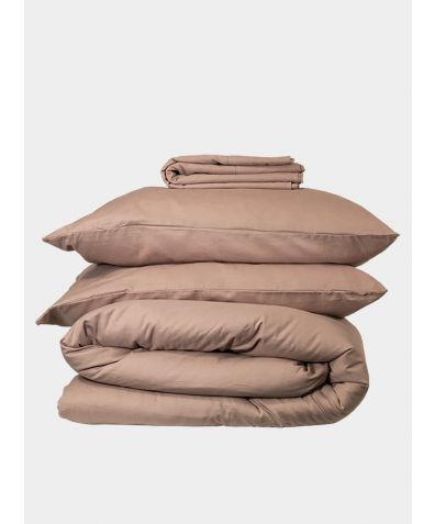 Linen & Bamboo Bedding Set  - Champagne Pink