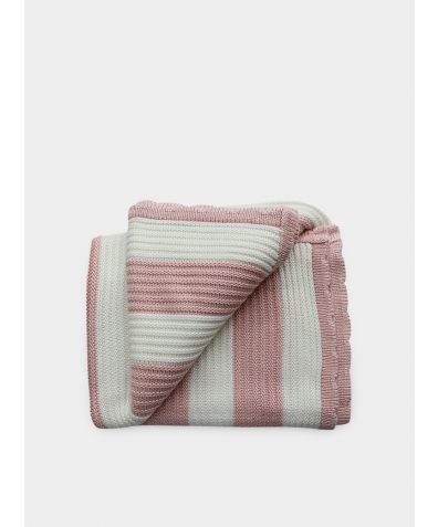 Organic Knitted Bamboo Blanket - Blush