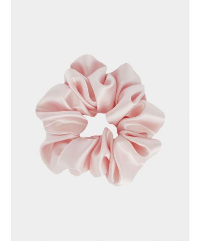 Silk Scrunchie - Blush Pink
