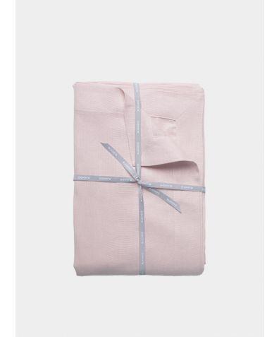 Stonewashed Linen Flat Sheet – Pale Pink